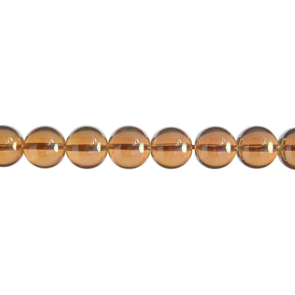 AB Gold Crystal Round 12mm - Loose Beads