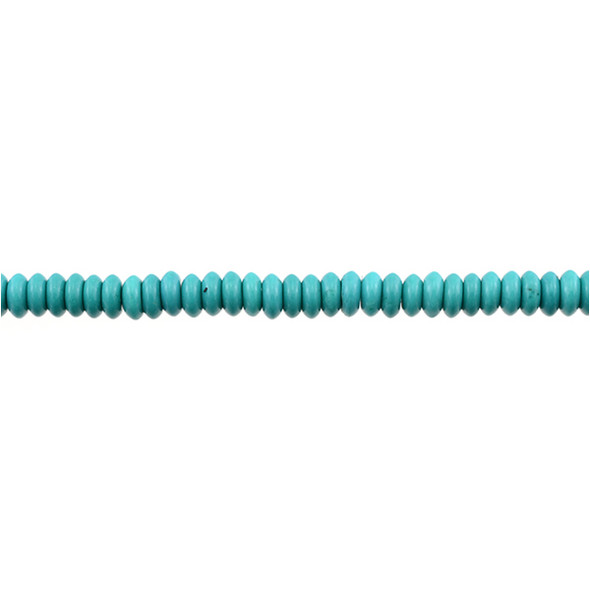 Chinese Turquoise Abacus 6mm x 6mm x 3mm - Loose Beads