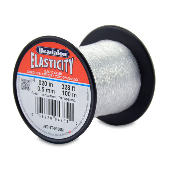 Beadalon Elasticity - 0.5mm - 100m (Transparent)