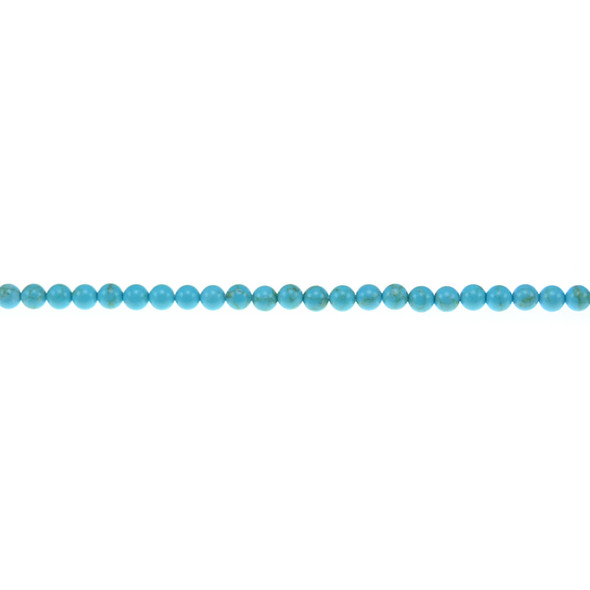 Chinese Turquoise Round 3mm - Loose Beads