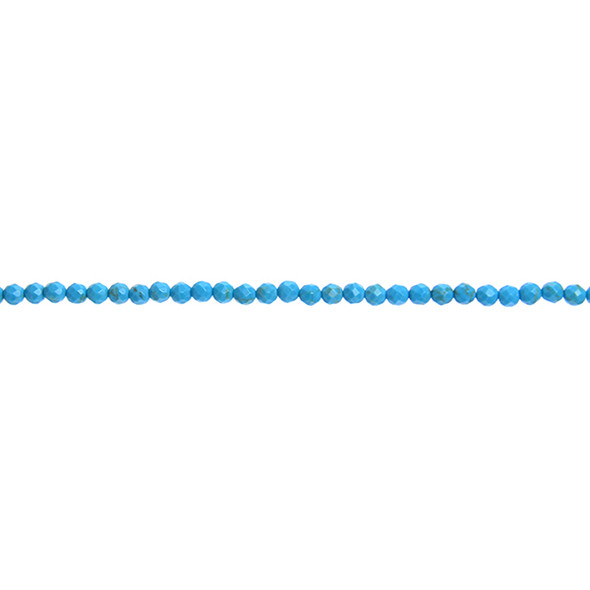 Chinese Turquoise Round Faceted 3mm - Loose Beads