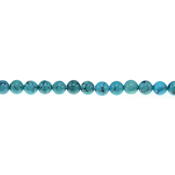 Chinese Turquoise Round 6mm - Loose Beads