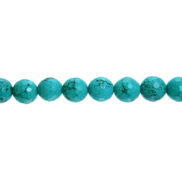 Chinese Turquoise Round Faceted 12mm - Loose Beads