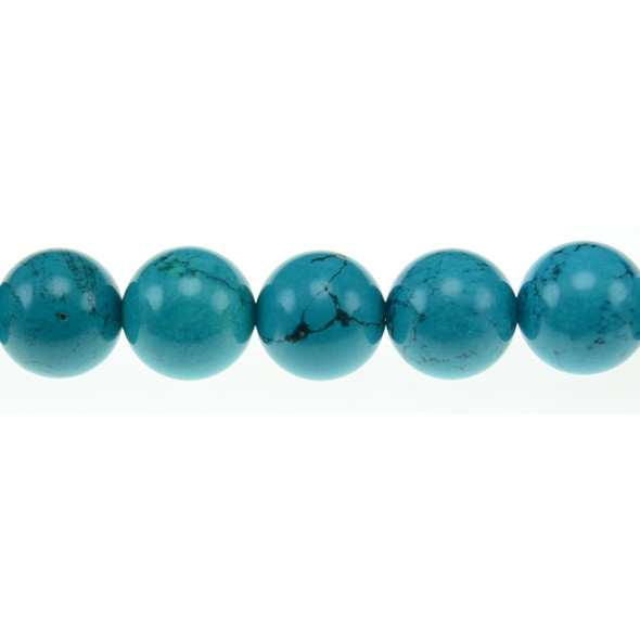 Chinese Turquoise Round 14mm - Loose Beads