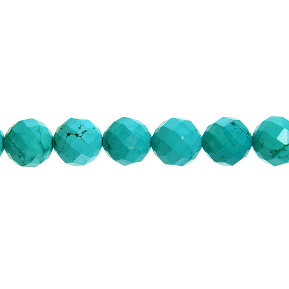 Chinese Turquoise Round Faceted 14mm - Loose Beads
