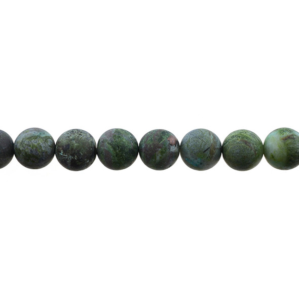 Dragon Blood Stone Jasper Round Frosted 10mm - Loose Beads
