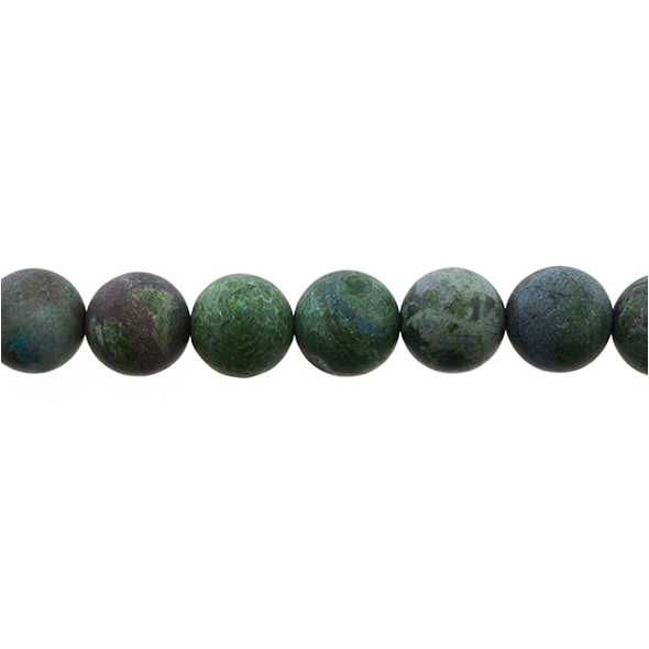 Dragon Blood Stone Jasper Round Frosted 12mm - Loose Beads
