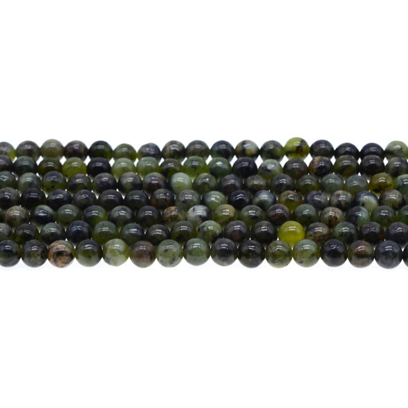 Dark Chrysoprase Australian Jade Round 6mm - Loose Beads