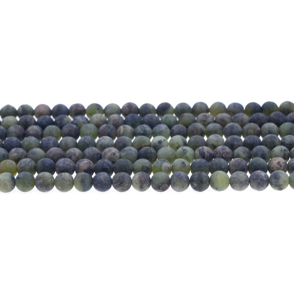 Dark Chrysoprase Australian Jade Round Frosted 6mm - Loose Beads