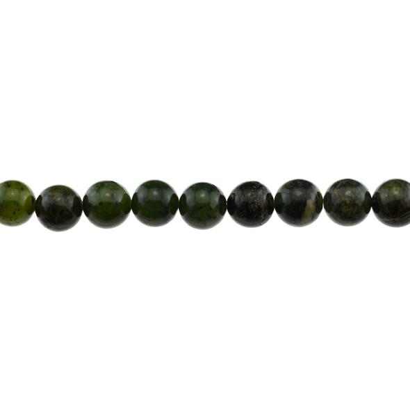 Dark Chrysoprase Australian Jade Round 10mm - Loose Beads