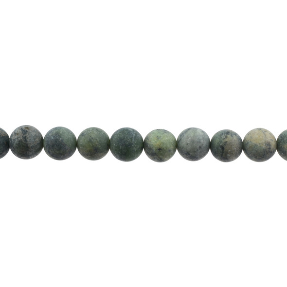 Dark Chrysoprase Australian Jade Round Frosted 10mm - Loose Beads