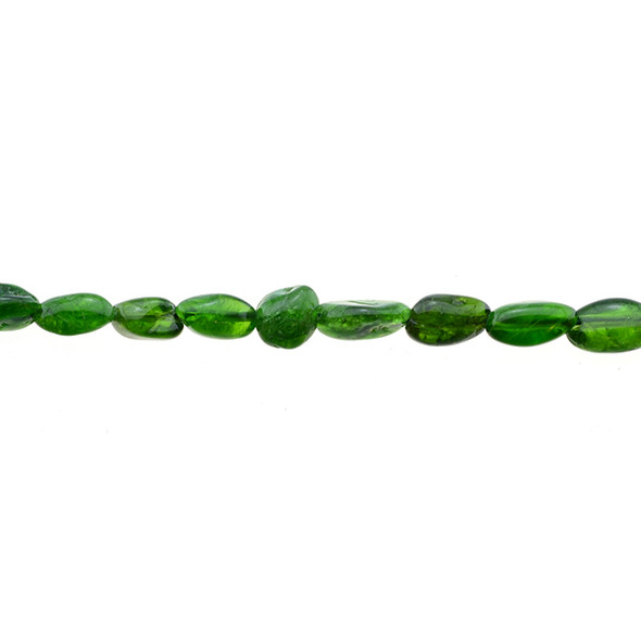 Diopside Oval Puff Irregular 6mm x 8mm x 3mm - Loose Beads