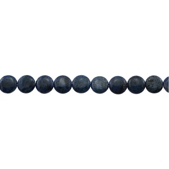 Dumortierite Coin Puff 10mm x 10mm x 4mm - Loose Beads
