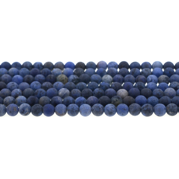 Dumortierite Round Frosted 6mm - Loose Beads