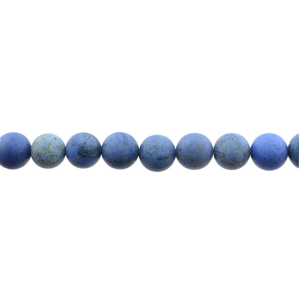 Dumortierite Round Frosted 10mm - Loose Beads