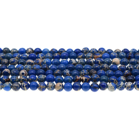 Blue Emperor Stone Jasper Round 6mm - Loose Beads