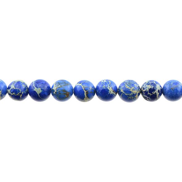 Blue Emperor Stone Jasper Round 10mm - Loose Beads