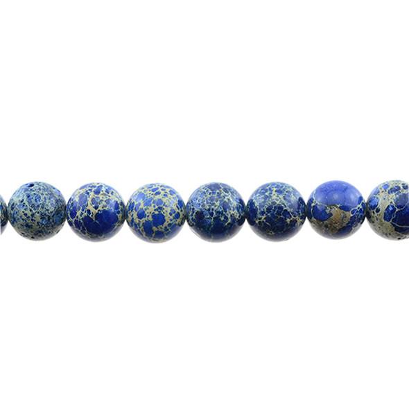 Blue Emperor Stone Jasper Round 12mm - Loose Beads
