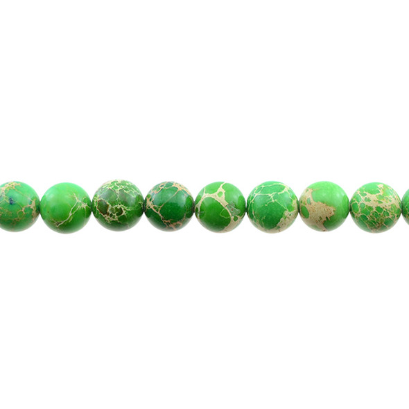 Green Emperor Stone Jasper Round 10mm - Loose Beads
