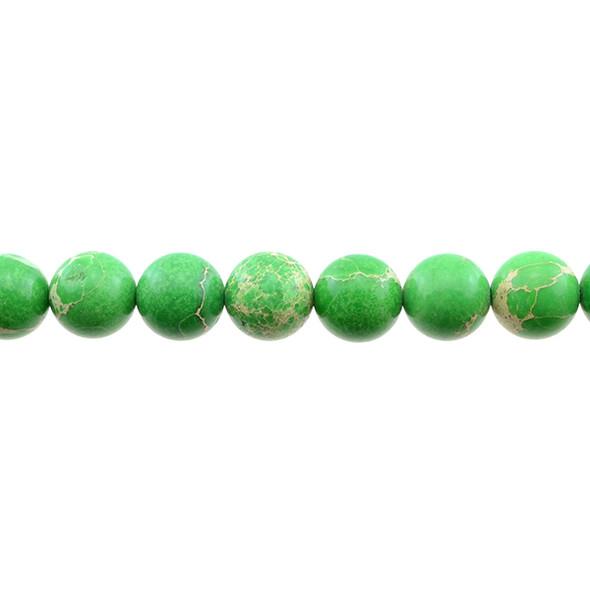 Green Emperor Stone Jasper Round 12mm - Loose Beads