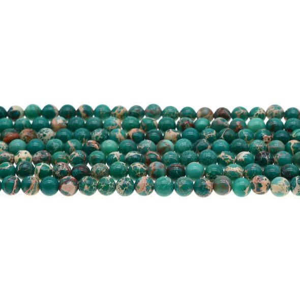 Jade Green Emperor Stone Jasper Round 6mm - Loose Beads