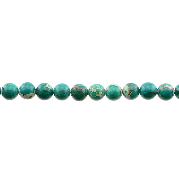 Jade Green Emperor Stone Jasper Round 8mm - Loose Beads