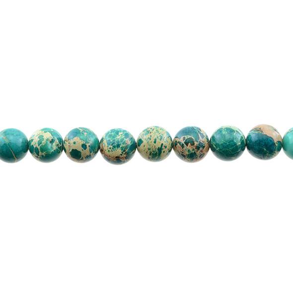 Jade Green Emperor Stone Jasper Round 10mm - Loose Beads