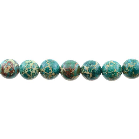 Jade Green Emperor Stone Jasper Round 12mm - Loose Beads