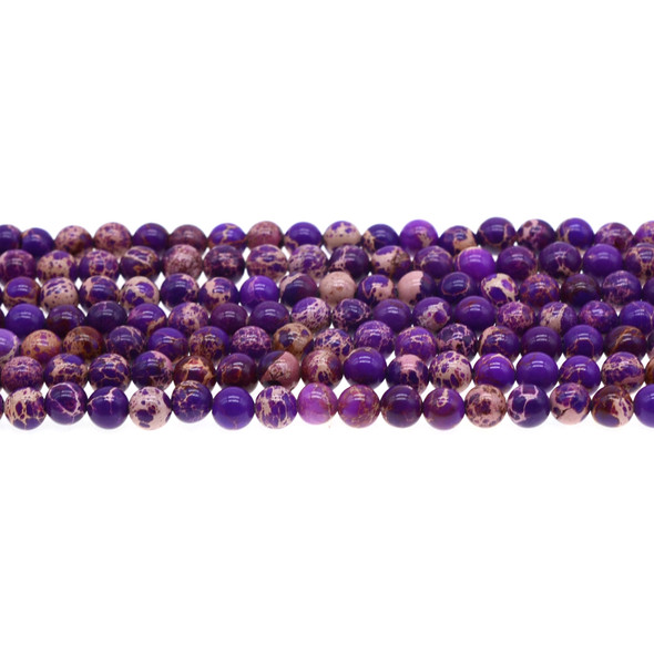 Purple Emperor Stone Jasper Round 6mm - Loose Beads
