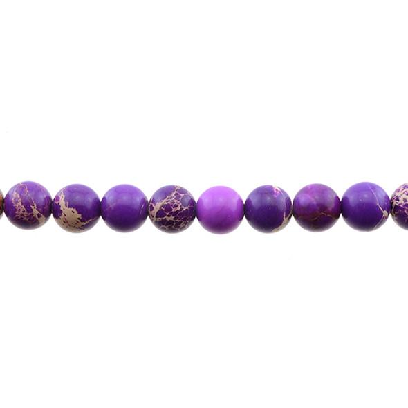 Purple Emperor Stone Jasper Round 10mm - Loose Beads