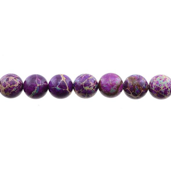 Purple Emperor Stone Jasper Round 12mm - Loose Beads