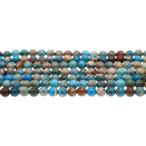 Turquoise Blue Emperor Stone Jasper Round 6mm - Loose Beads