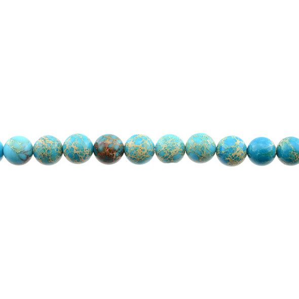 Turquoise Blue Emperor Stone Jasper Round 8mm - Loose Beads