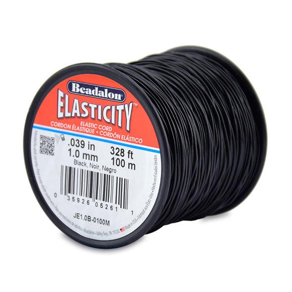 Beadalon Elasticity - 1.0mm - 100m (Black)