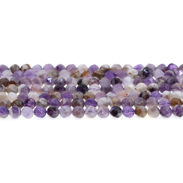 Flower Amethyst Round Large Cut 6mm - Loose Beads