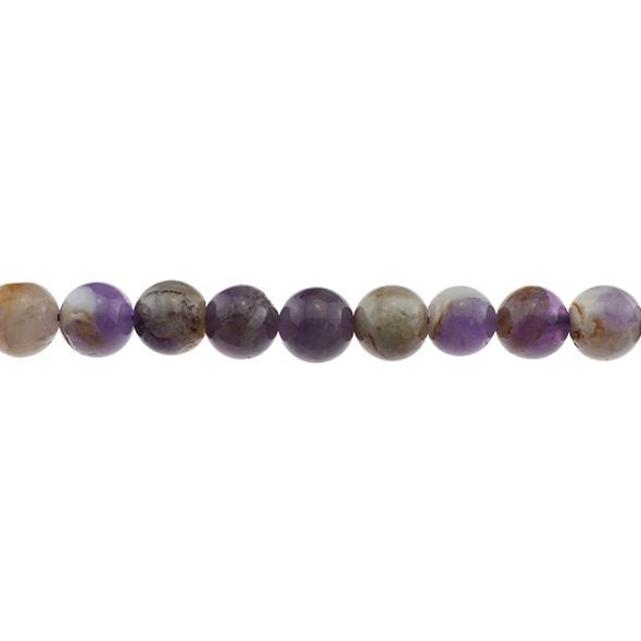 Flower Amethyst Round 10mm - Loose Beads