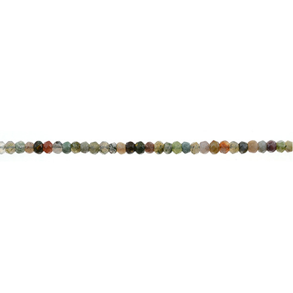 Fancy Jasper Roundel Faceted 4mm x 4mm x 2mm - Loose Beads