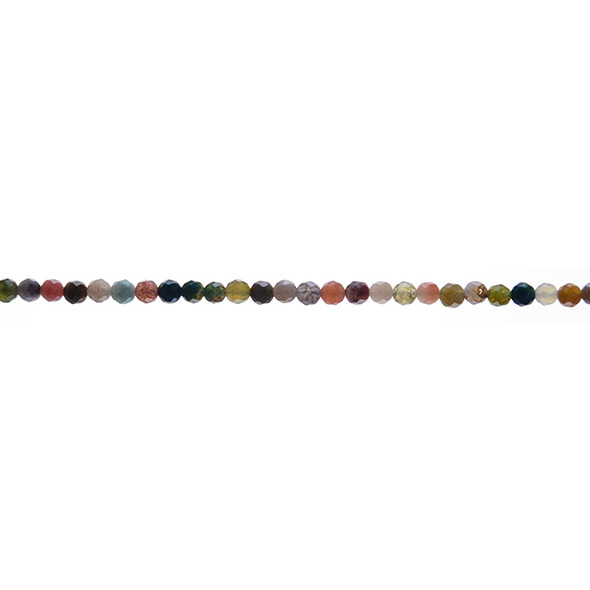 Fancy Jasper Round Faceted 3mm - Loose Beads
