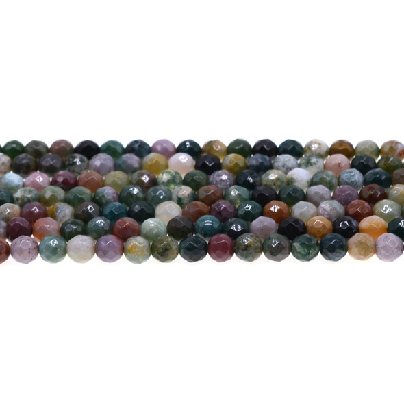 Fancy Jasper Round Faceted 6mm - Loose Beads