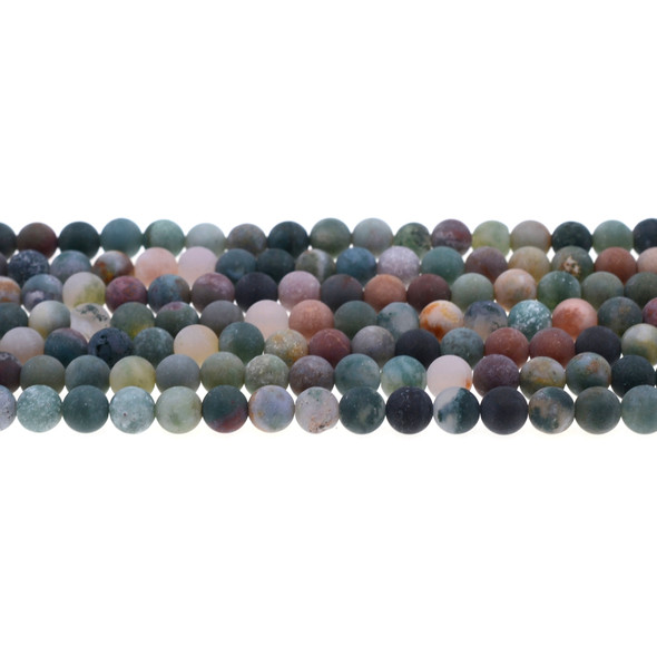 Fancy Jasper Round Frosted 6mm - Loose Beads