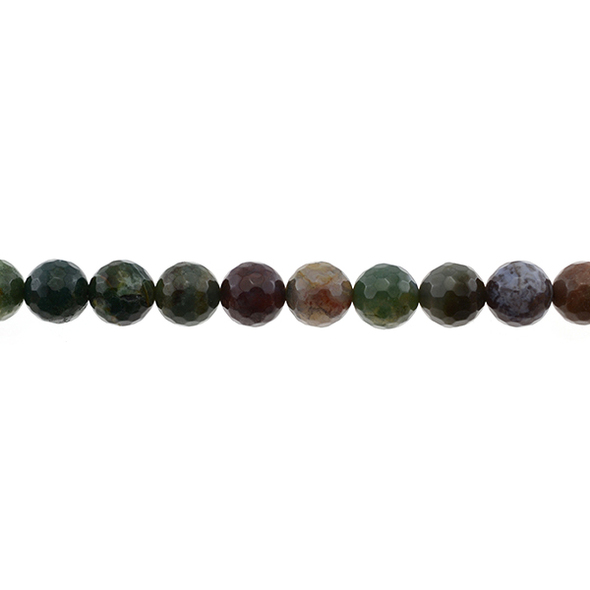 Fancy Jasper Round Faceted 10mm - Loose Beads