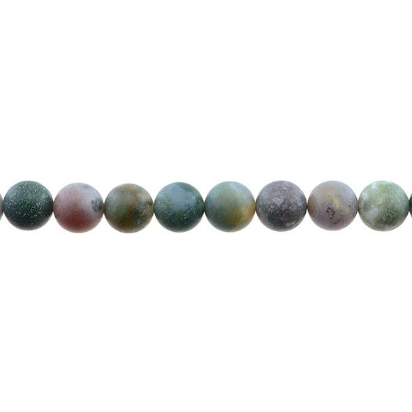 Fancy Jasper Round Frosted 10mm - Loose Beads