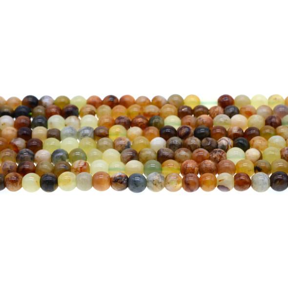 Fire New Jade Serpentine Round 6mm - Loose Beads