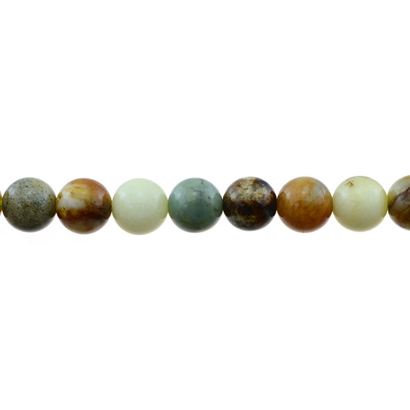 Fire New Jade Serpentine Round 10mm - Loose Beads