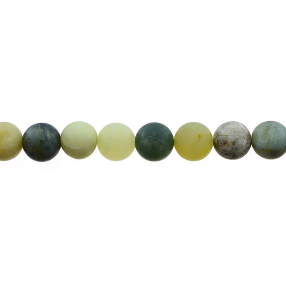 Fire New Jade Serpentine Round Frosted 10mm - Loose Beads