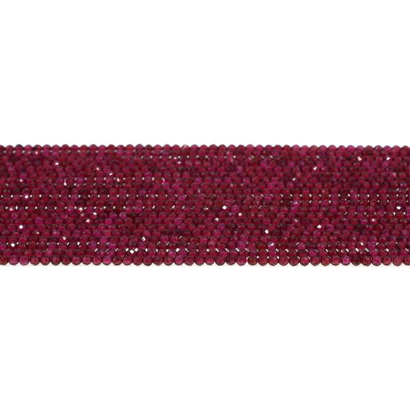 Garnet Round Faceted Diamond Cut 2mm - Loose Beads