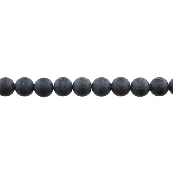 Garnet Round Frosted 8mm - Loose Beads