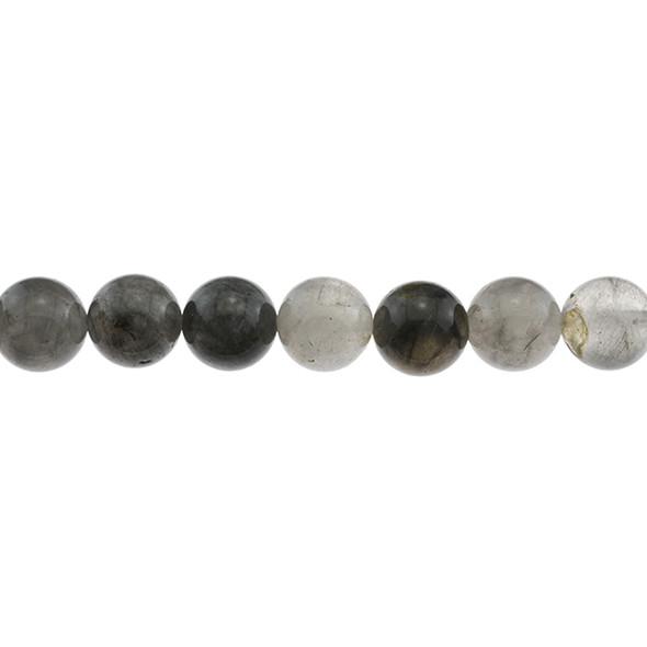 Grey Cloudy Quartz Round 12mm - Loose Beads