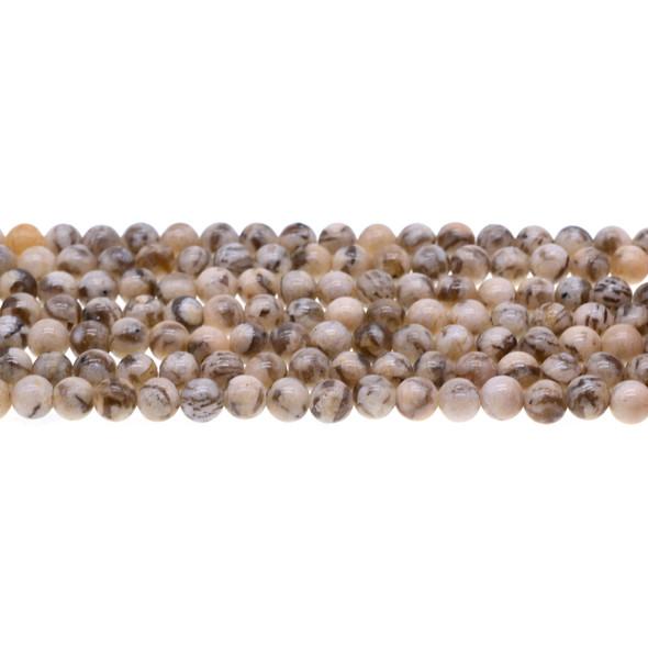 Graphic Feldspar Round 6mm - Loose Beads