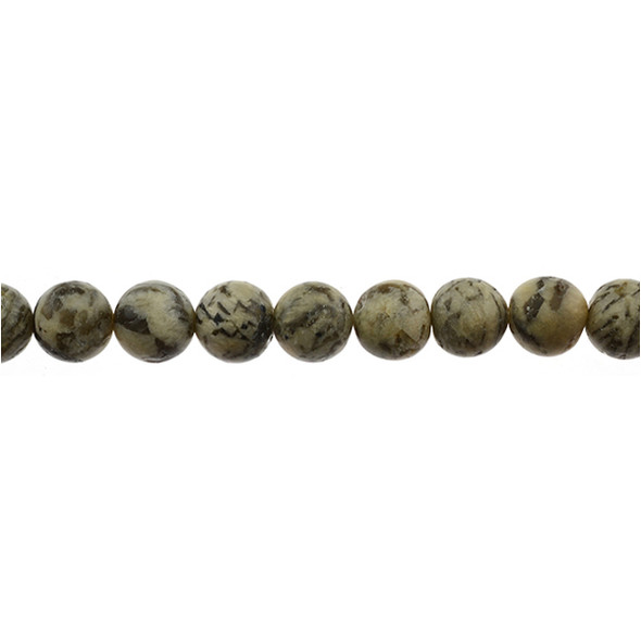 Graphic Feldspar Round Frosted 12mm - Loose Beads